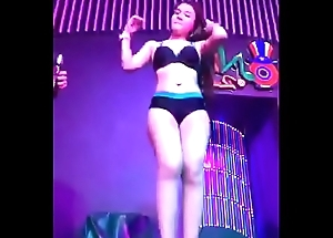 Youthful Thai Girl Dancing with an increment of Floor Grinding