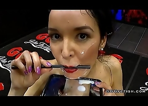 Sexy francys pulchritude gets cumshots with bukkakes and facials