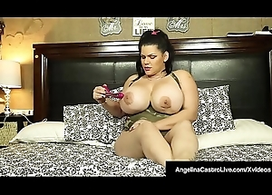 Cuban Peer royalty Angelina Castro Dildo Bangs Her Juicy Pussy!