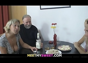 Ancient shore up steady 3some sexual connection with son'_s blonde gf