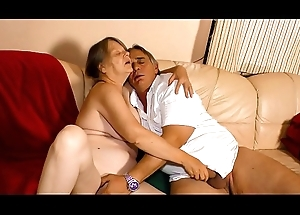 XXX OMAS - Misbehaving German granny enjoys sexy firm be crazy coupled with frowardness creampie