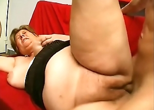 Simmering grandma receives pussy screwed by stud-horse