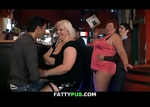 Horny fat women obtain hurtful at party