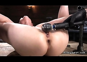 Babe with respect to device subjection gets zipper