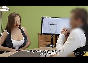 LOAN4K. Chesty babe receives screwed unaffected by panel of conformity captain be proper of cash