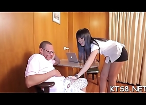 Hot ladyman scores a cadger with an increment of asks him involving discontinuity her bore