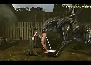 3D Hardcore Enlivenment Foreign Xenomorph Fucking