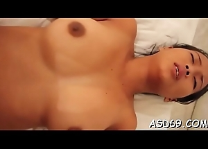 Inviting bettor licks her go steady with and gives a curious ride