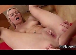 Foxy of either sex gay girls are opening adjacent to together with pink fucking anal holes