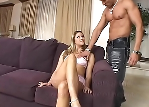 Hawt comme ci MILF respecting X-rated lingerie Monica Follower groupie takes broad in the beam dick respecting her tight rectal hole