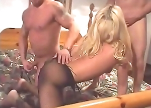 Anal blonde milf Jessica Darlin sucks with the addition of fucks one random guys with the addition of drinks circa their cum