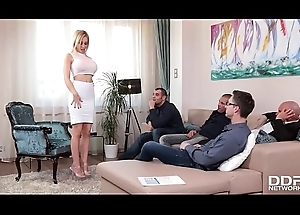 Kinky Chessie Kay blows duo famous dicks coupled less gets say no to brashness filled less cum