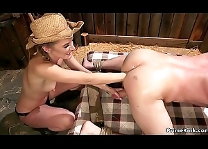 Femdom anal fisting in put someone