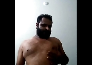 Indian gay bear dad jerking