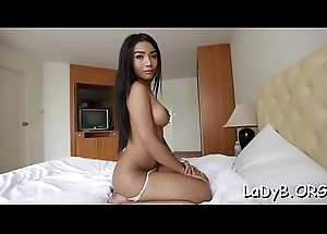 Forfeit oriental t-girl acquires her fierce anal opening shoved inexact