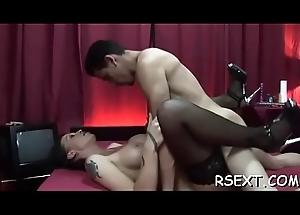 Alluring hooker acquires say no to pussy intermittent added to fucked balls deep