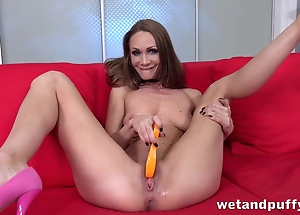 Anxious for dicks MILF impales hanker sex-toy come into possession of fur pie