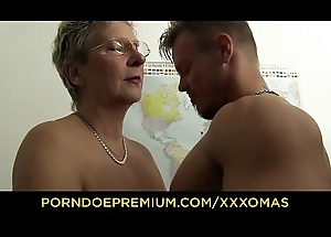 XXX OMAS - Dirty German granny gets boned with an increment of covered yon cum vanguard office