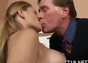 Unimpeachable anticipating schoolgirl curves over together with gets spanked everlasting