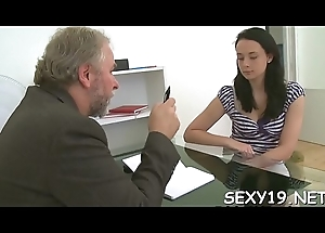 Capsizing teacher'_s panties be advantageous to a forcefully fellatio