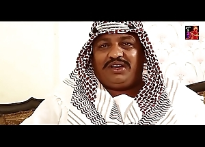 Arab Sheikh giving a kiss yearning for chest