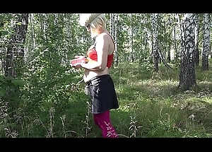 Concordat connected with nature, a eloquent girl undresses here be transferred to forest, a return situation outdoors.