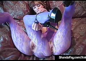 Canadian Cougar Shanda Fay Bonks Her Pussy With Her Heels!
