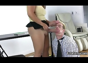 Sweeties drill guys anal not far from Cyclopean strapon dildos and burst jizz
